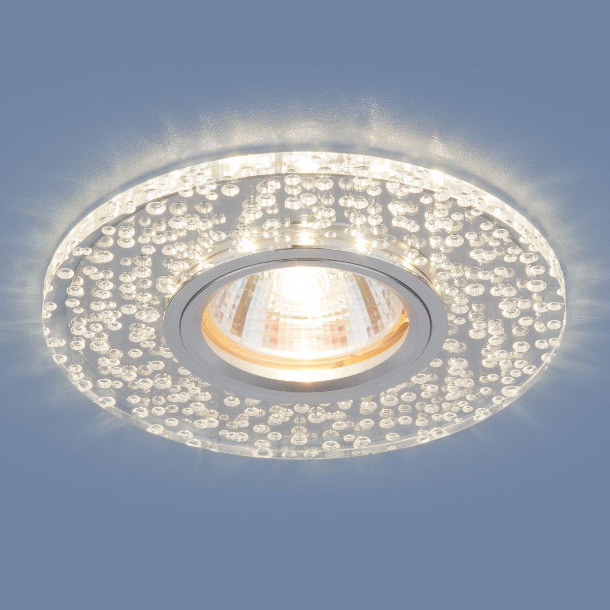 Точечный светильник с LED подсветкой 2199 MR16 CL зеркальный/прозрачный