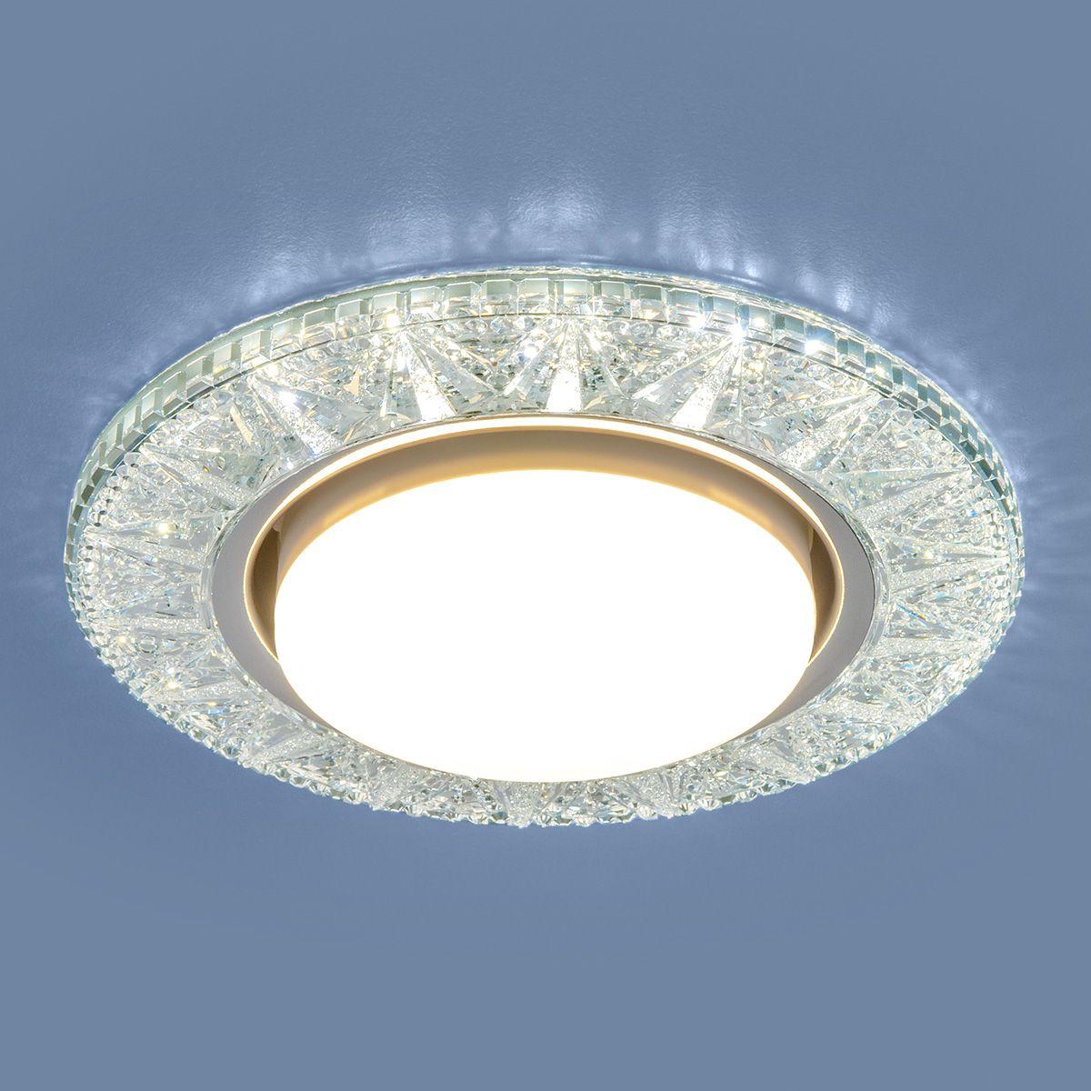 Точечный светильник с LED подсветкой 3022 GX53 CL прозрачный