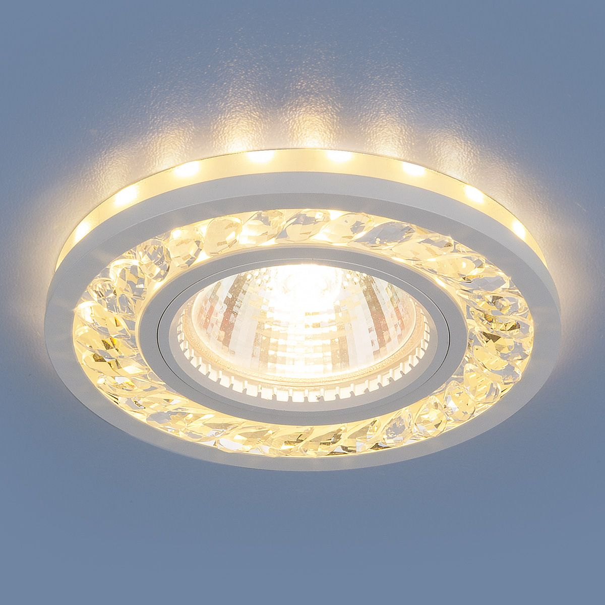 Точечный светильник с LED подсветкой 8355 MR16 CL/WH прозрачный/белый