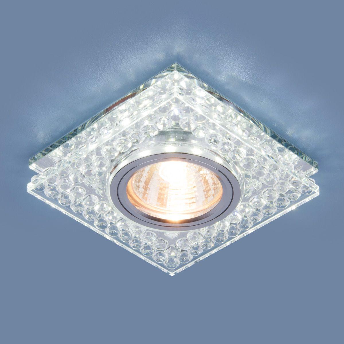 Точечный светильник с LED подсветкой 8391 MR16 CL/SL прозрачный/серебро