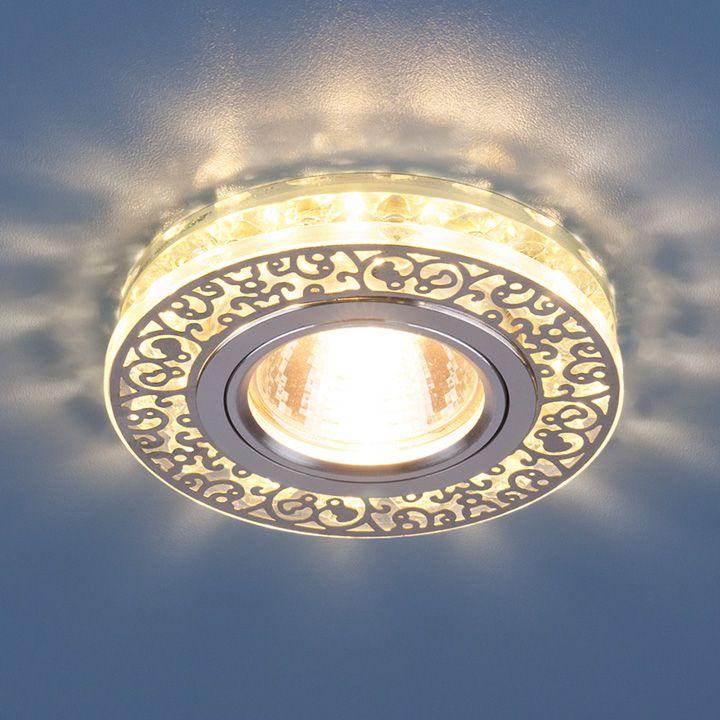 Точечный светильник с LED подсветкой 6034 MR16 CH/CL хром/прозрачный