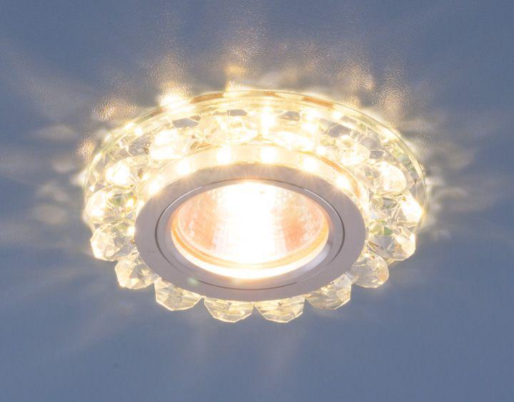 Точечный светильник с LED подсветкой 6036 MR16 СL прозрачный