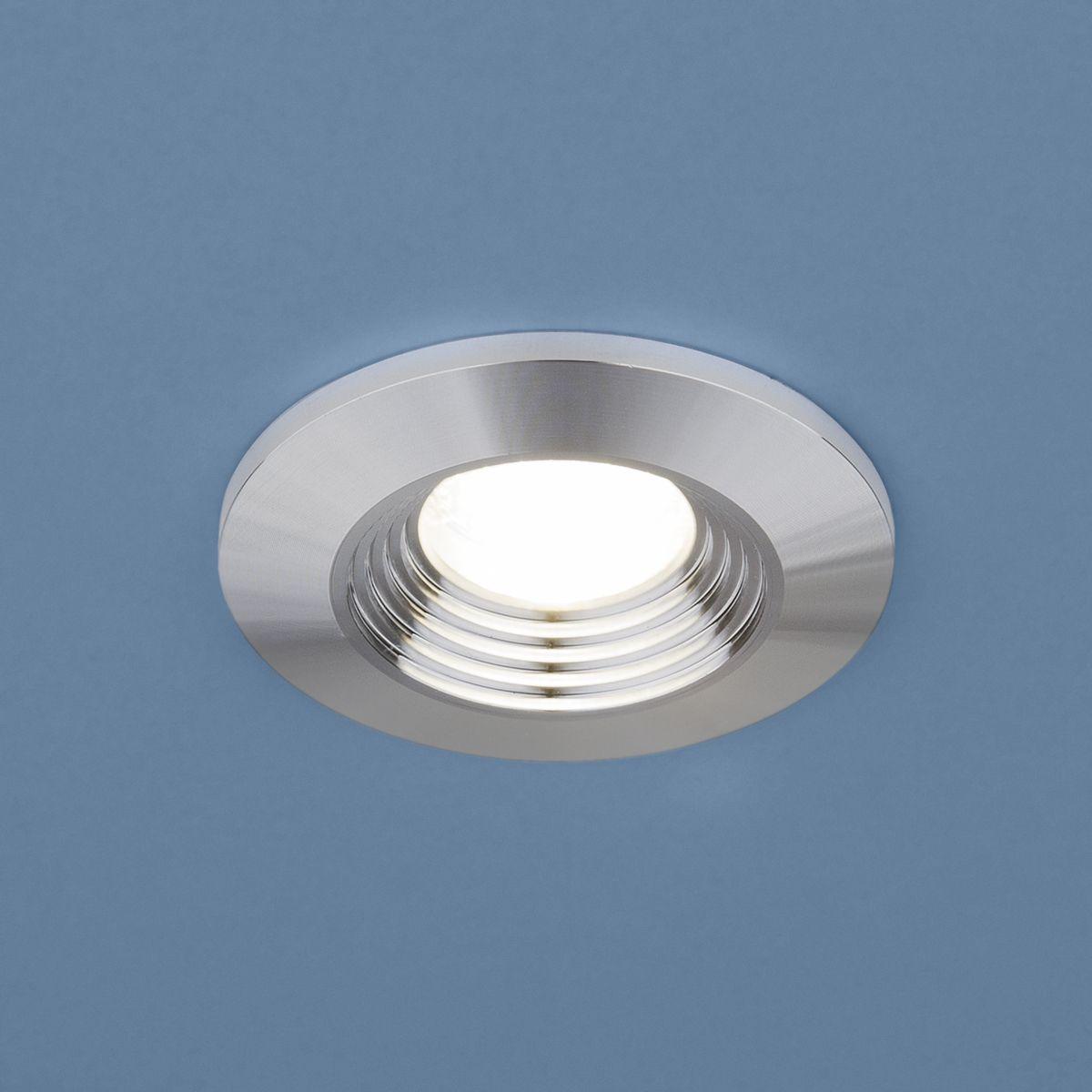 Встраиваемый светодиодный светильник 9903 LED 3W COB SL серебро