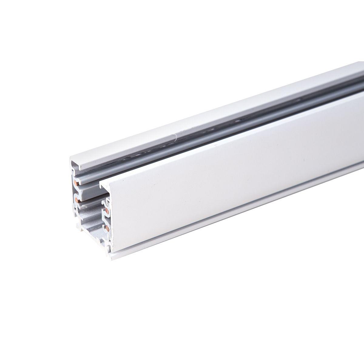 Трехфазный шинопровод 1 метр белый (с вводом питания и заглушкой) TRL-1-3-100-WH 1 метр белый