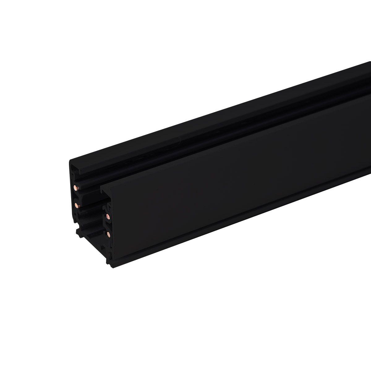 Трехфазный шинопровод 2 метра черный (с вводом питания и заглушкой) TRL-1-3-200-BK 2 метра черный