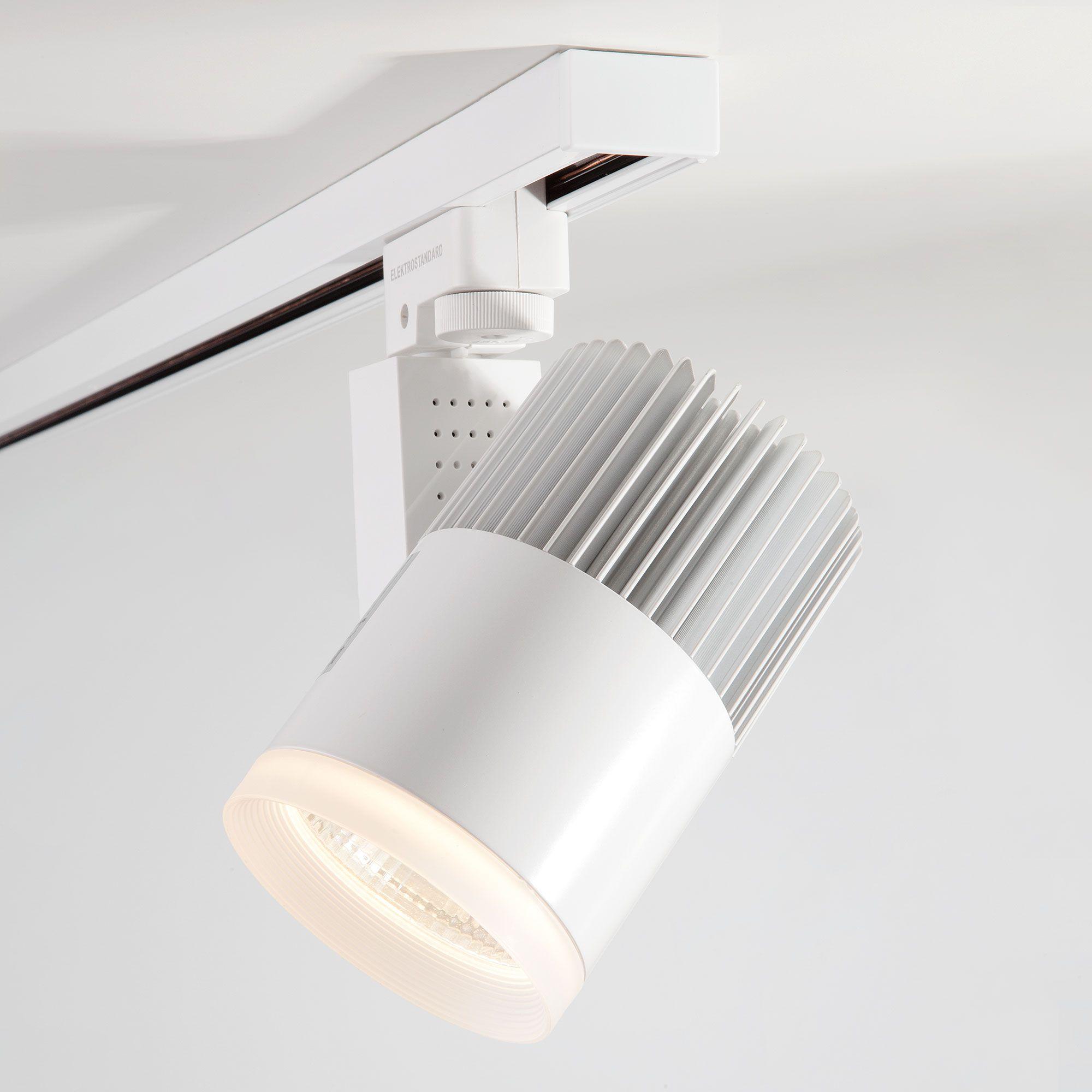 Трековый светодиодный светильник для однофазного шинопровода Accord белый 30W 3300K (1 шт.) LTB20