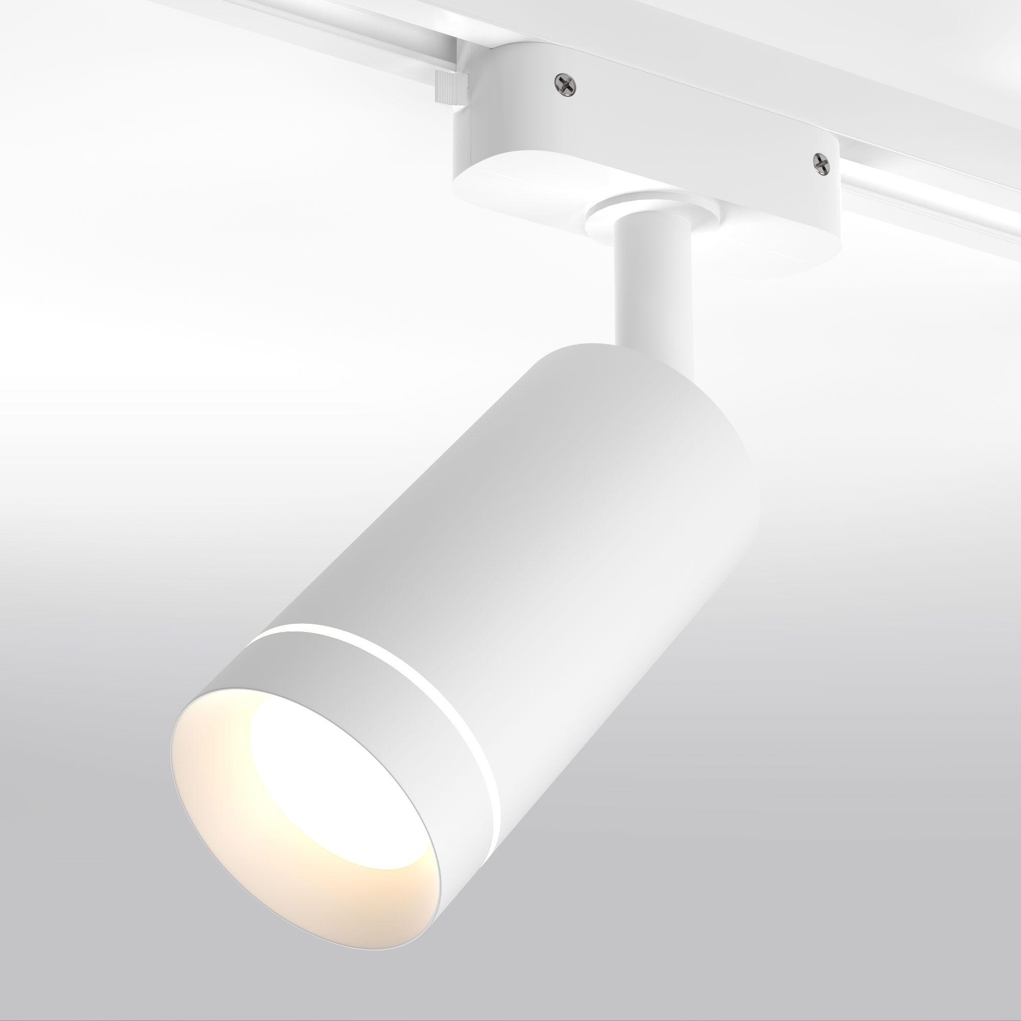 Трековый светодиодный светильник для однофазного шинопровода Glory белый 7W 4200K (1 шт.) LTB39