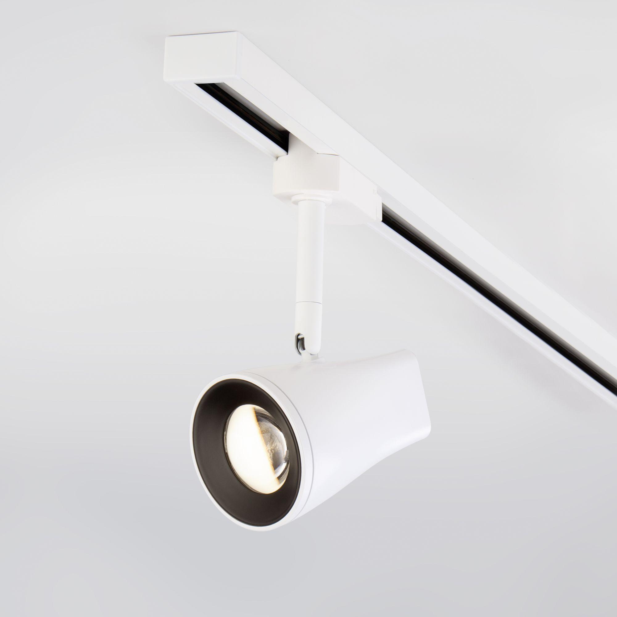 Трековый светодиодный светильник для однофазного шинопровода Hardi белый 9W 4200K (1 шт.) LTB18