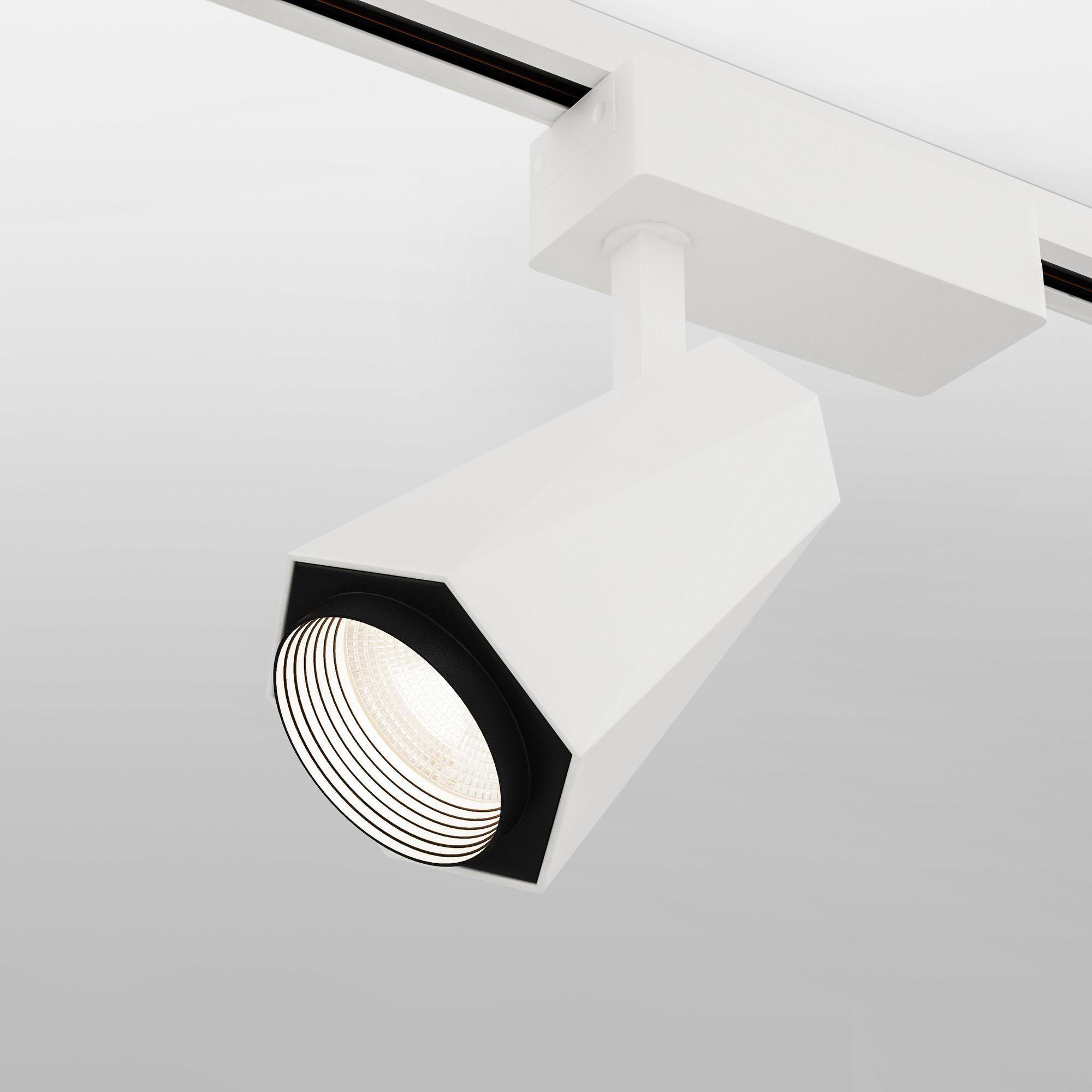 Трековый светодиодный светильник для однофазного шинопровода Magnum белый 20W 4200K (1 шт.) LTB46