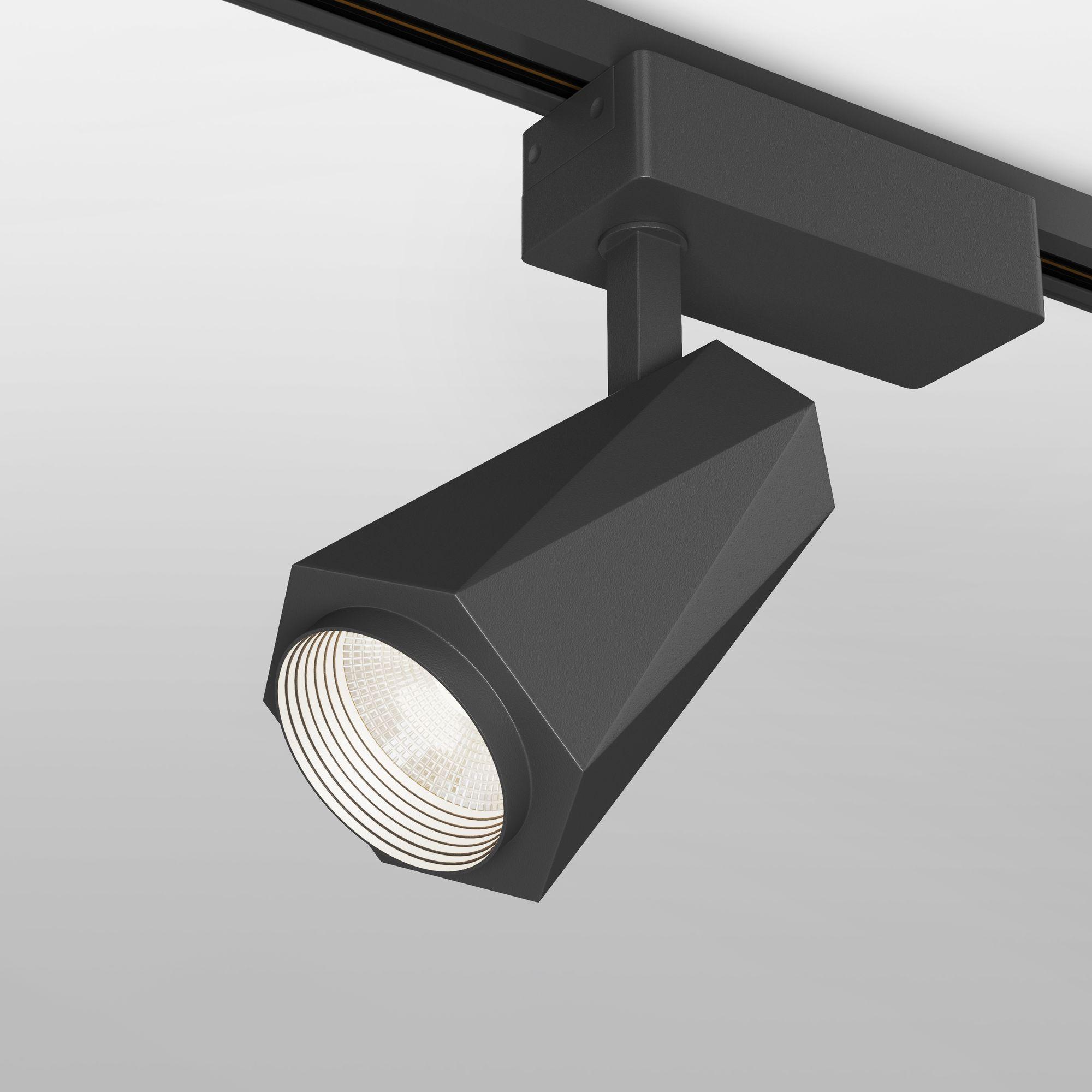 Трековый светодиодный светильник для однофазного шинопровода Magnum чёрный 20W 4200K (1 шт.) LTB46
