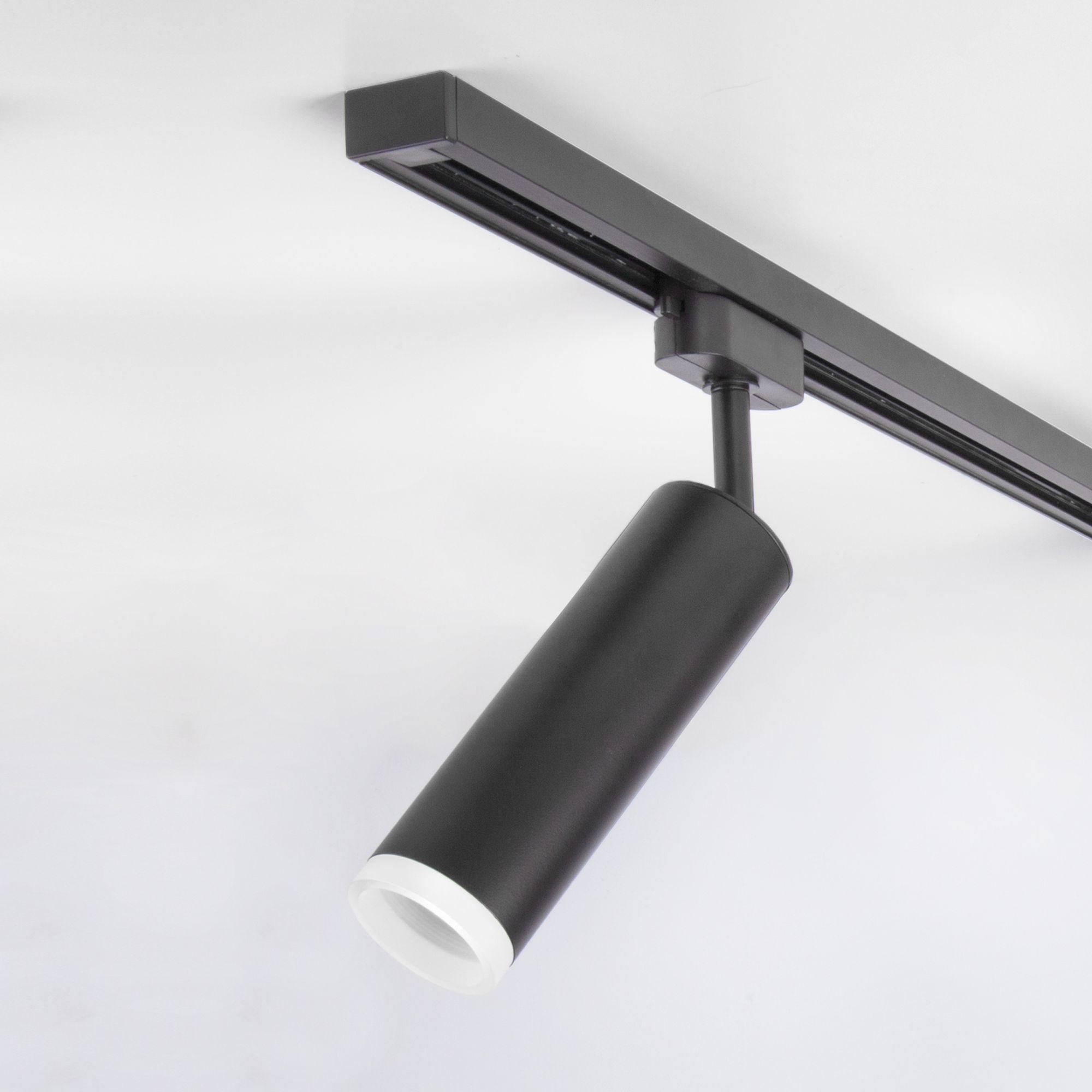 Трековый светодиодный светильник для однофазного шинопровода Oskar черный 10W 4200K (1 шт.) LTB28
