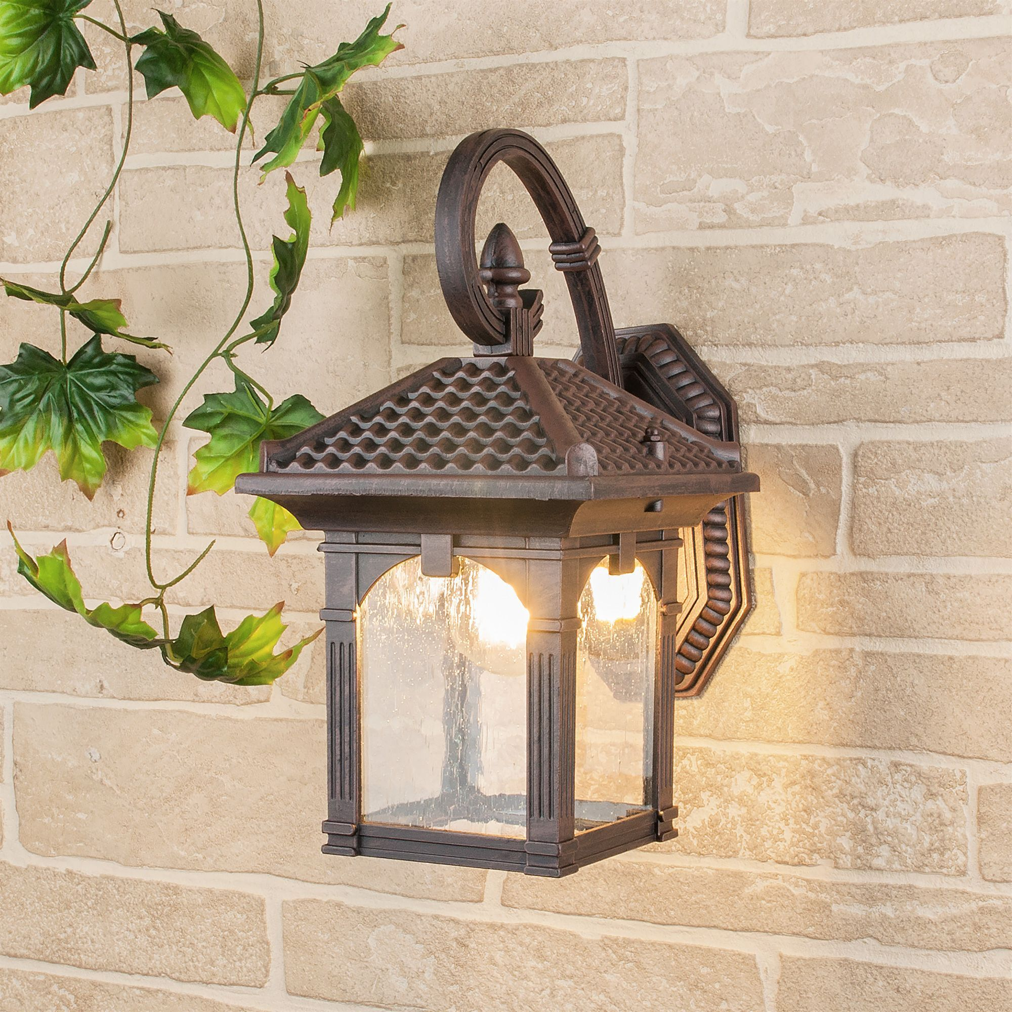 Уличный настенный светильник Corvus D капучино IP33 GL 1021D