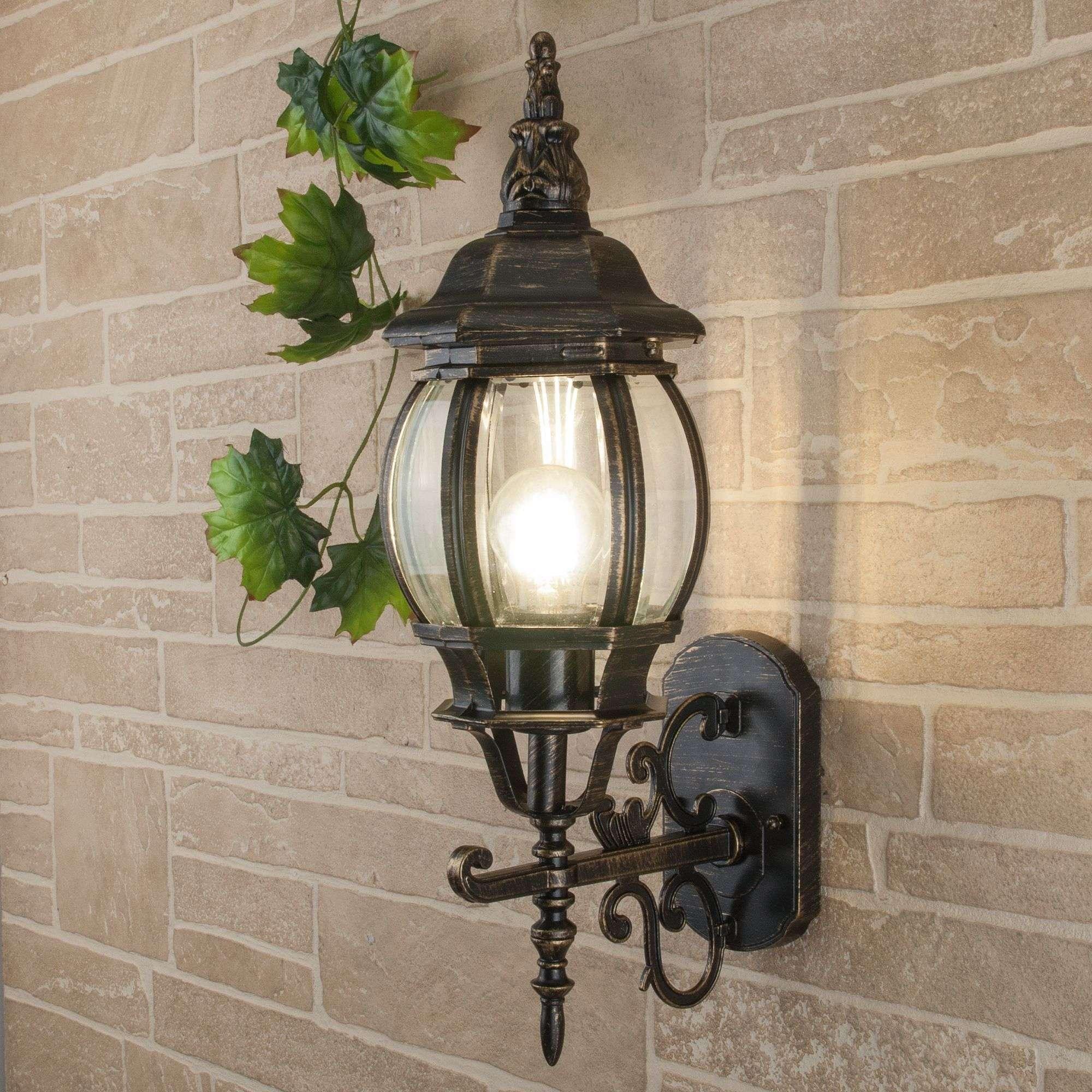 Уличный настенный светильник GL 1011U черное золото IP33 GL 1011U черное золото