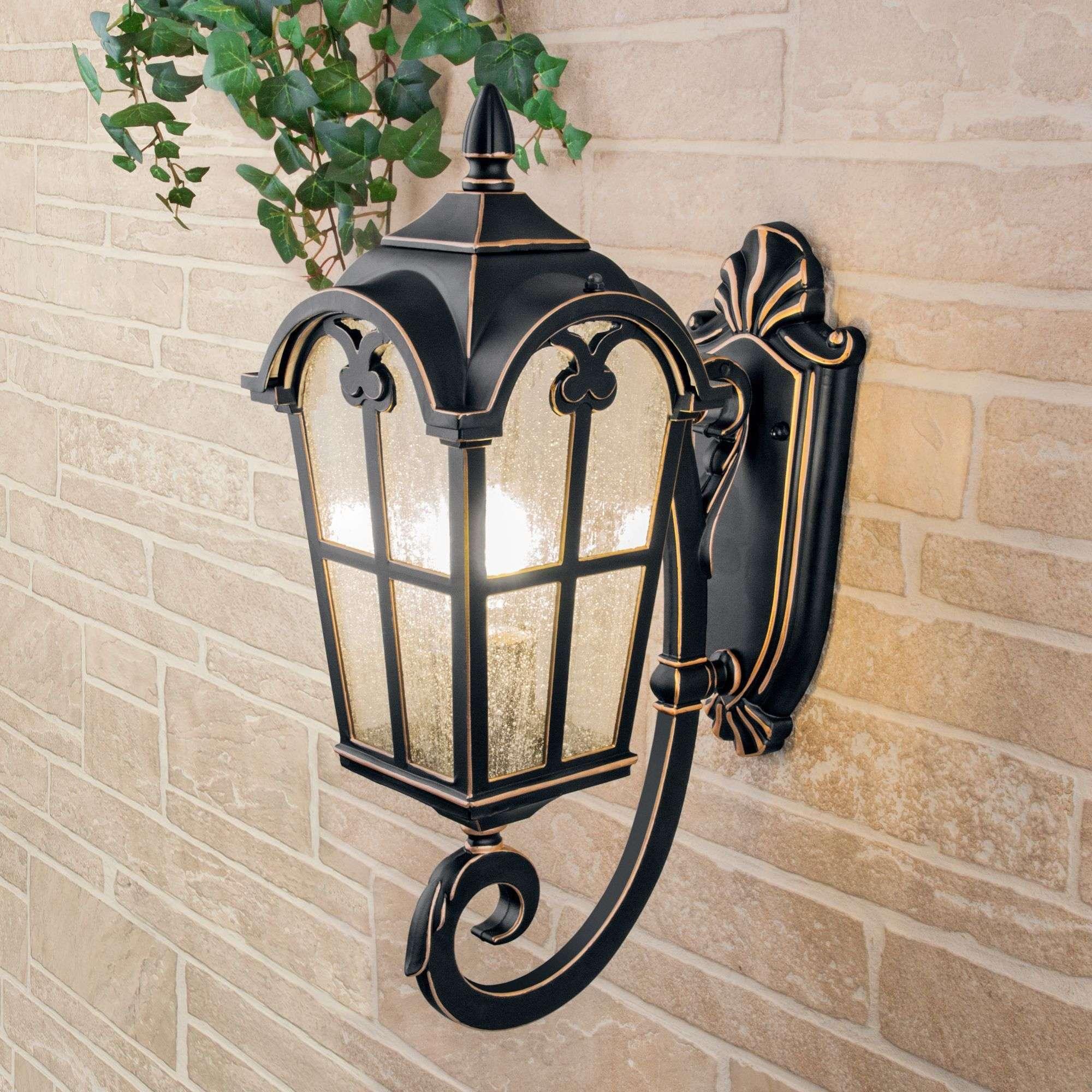 Уличный настенный светильник Mira U черное золото IP44 Mira U черное золото