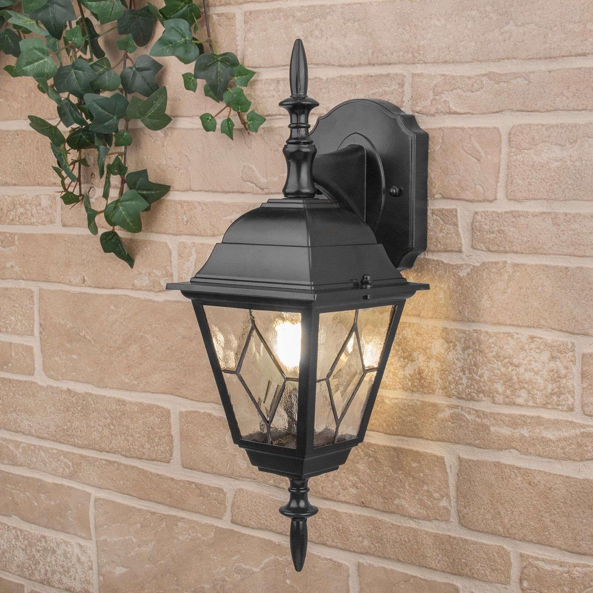 Уличный настенный светильник Vega D черный IP44 Vega D черный