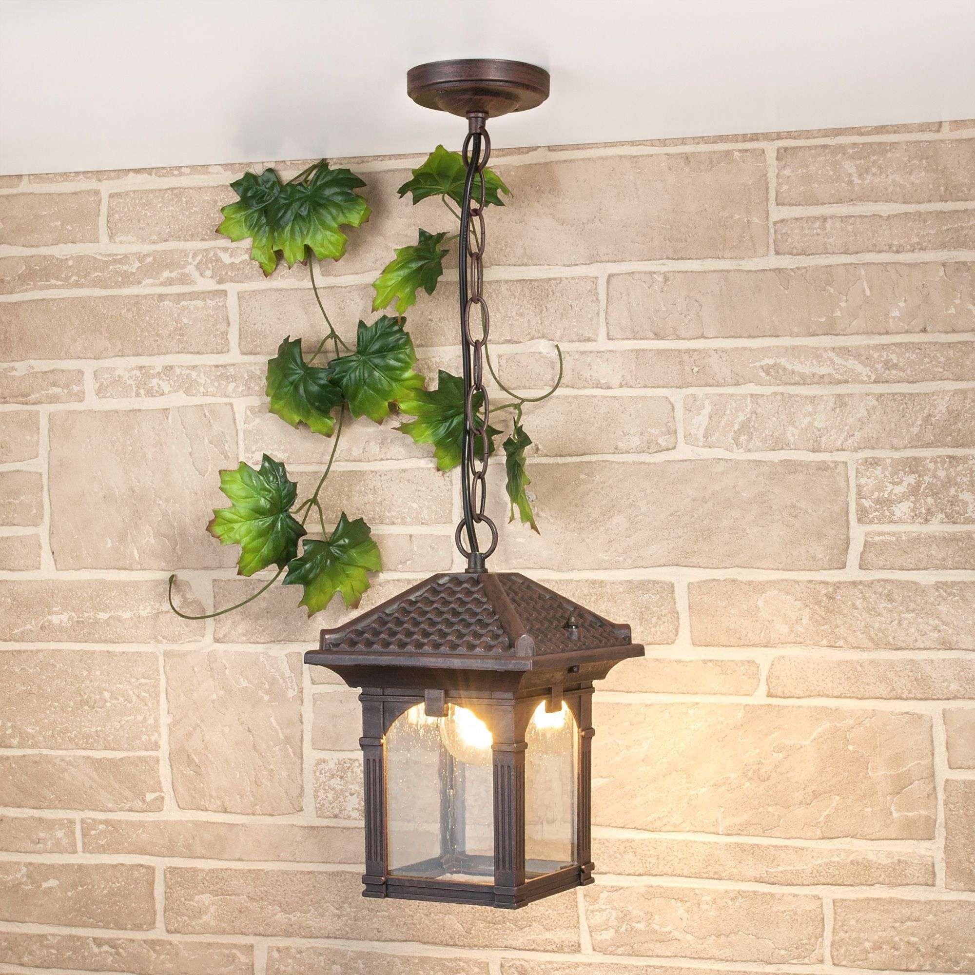 Уличный подвесной светильник Corvus H капучино IP33 GL 1021H