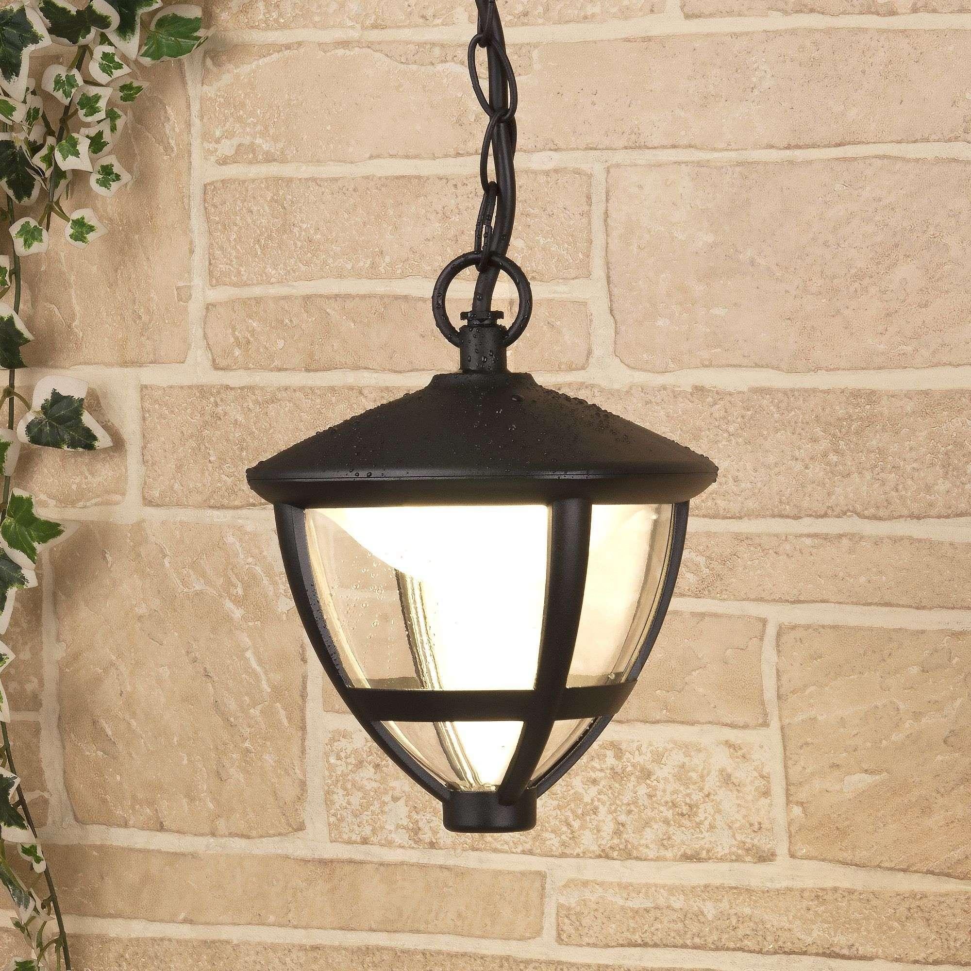 Уличный подвесной светодиодный светильник Gala H черный IP44 GL LED 3001H