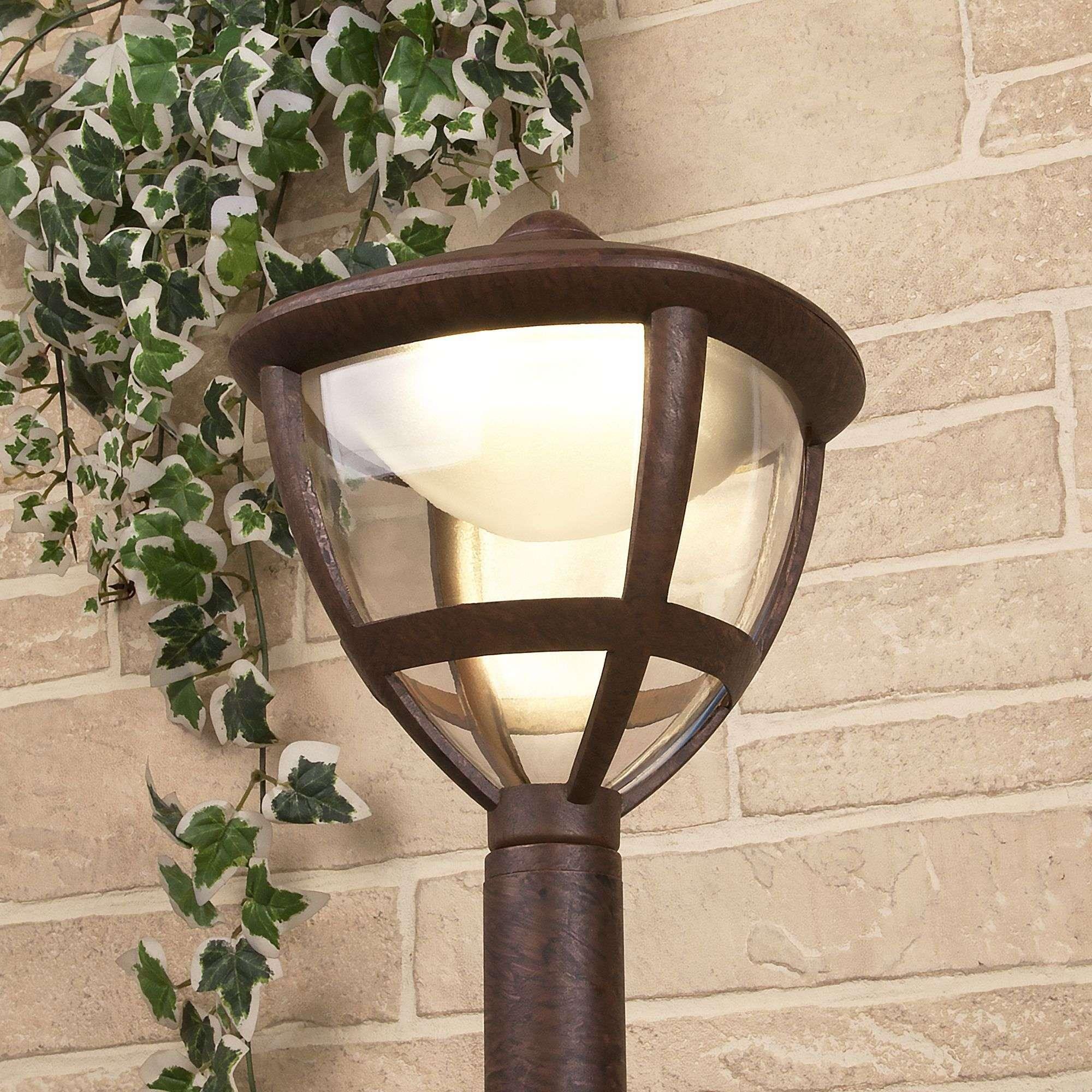 Уличный светодиодный светильник на столбе Gala F брауни IP44 GL LED 3001F