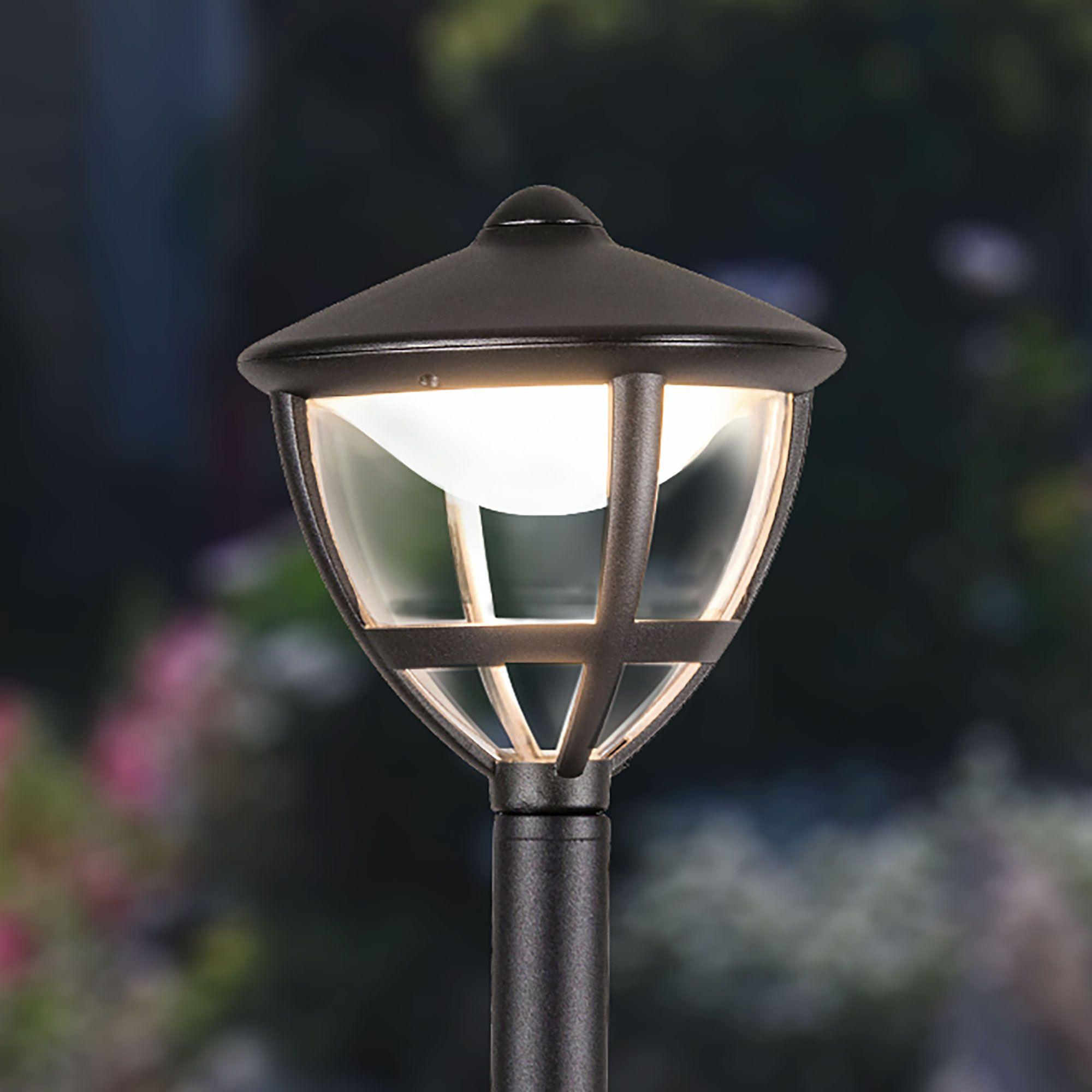 Уличный светодиодный светильник на столбе Gala F черный IP44 GL LED 3001F