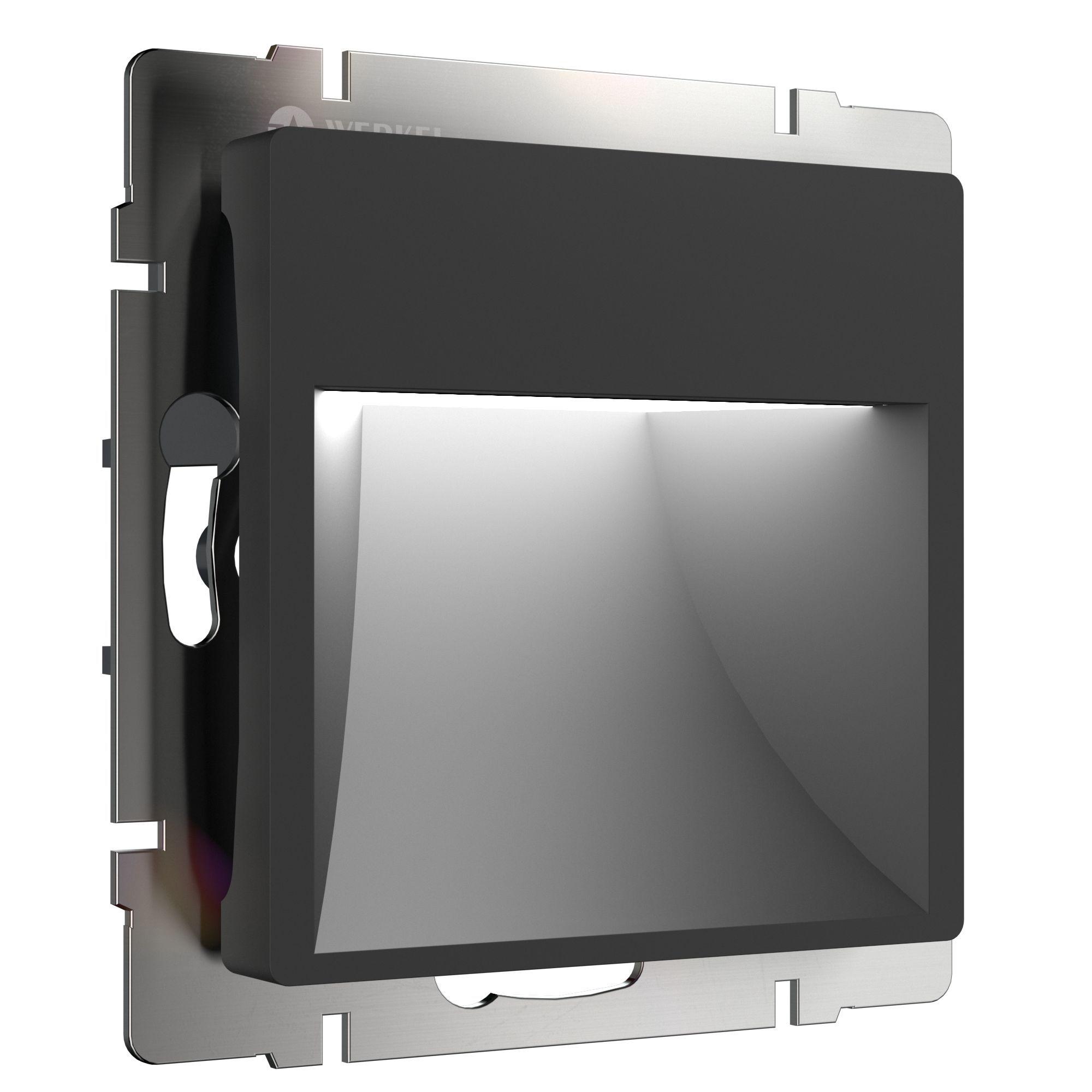 Встраиваемая LED подсветка черный WL08-BL-01-LED