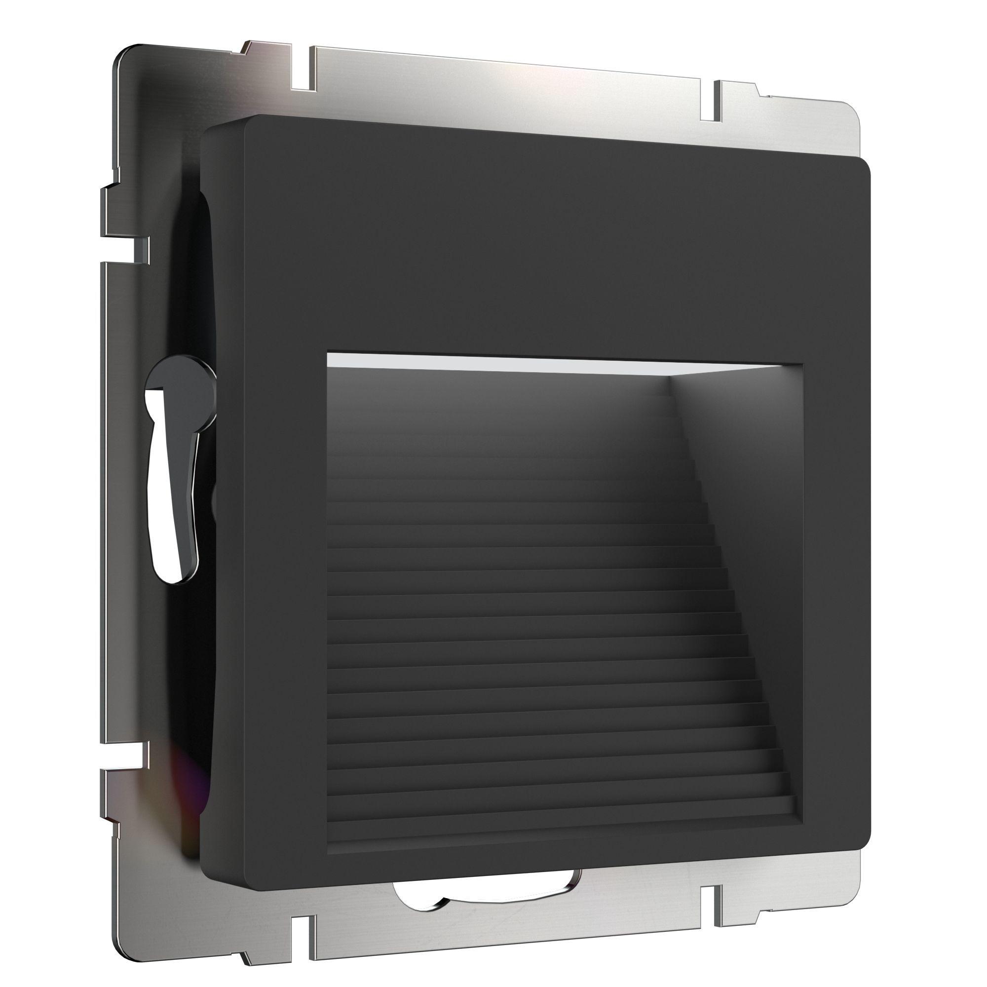 Встраиваемая LED подсветка черный WL08-BL-02-LED