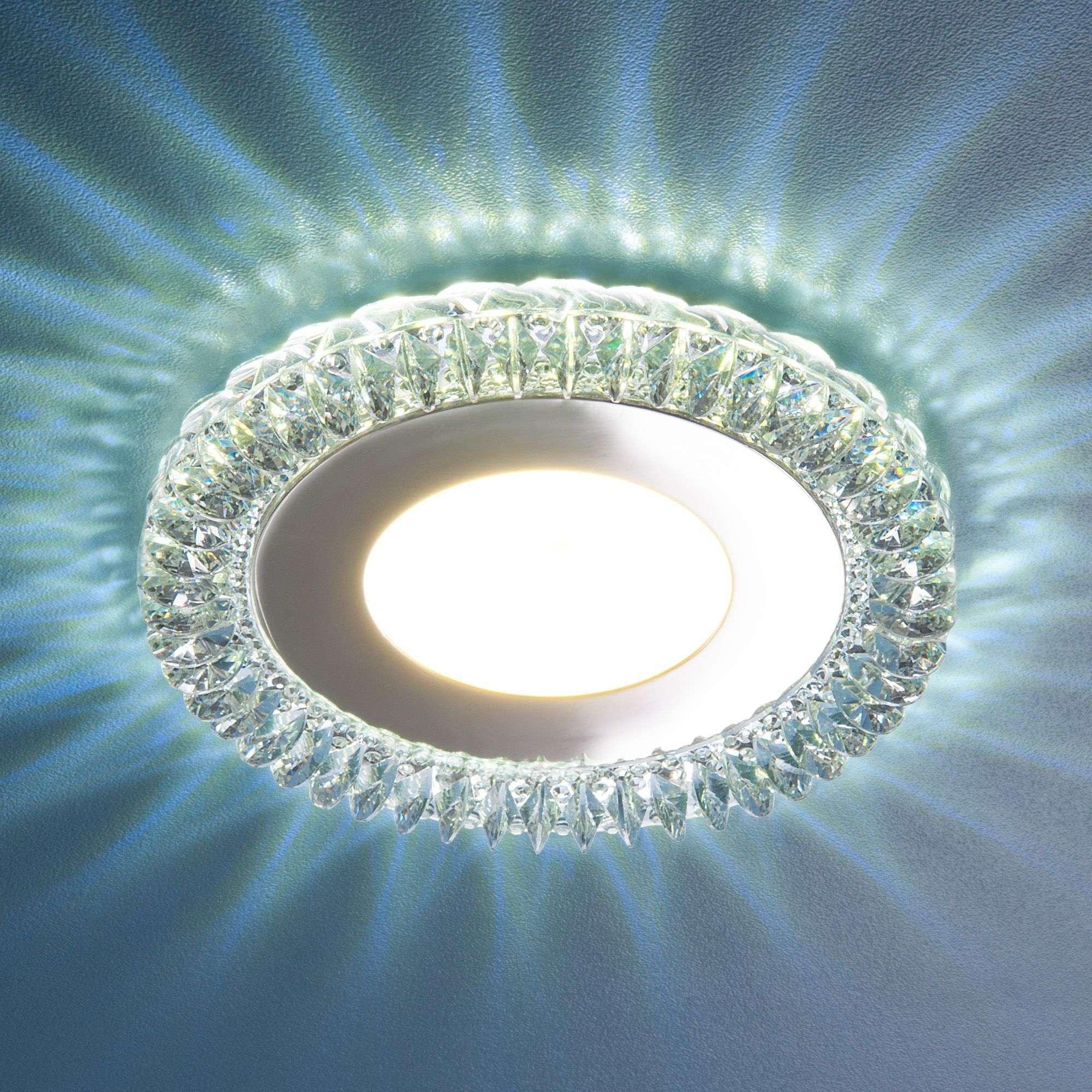 Точечный светильник с LED подсветкой 9908 LED 8W CL прозрачный