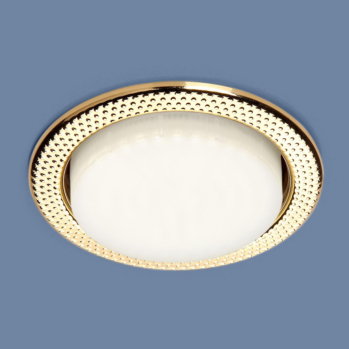 Встраиваемый точечный светильник 1066 GX53 GD золото